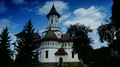 Holy monasteries in Bucovina, Romania heritage, Campul Lung, time-lapse Stock Footage
