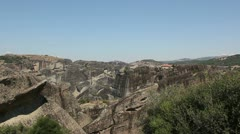 Meteora valley (rock formations) _4 Stock Footage