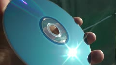 Survey of a laser disk on presence of scratches and dirt - stock footage