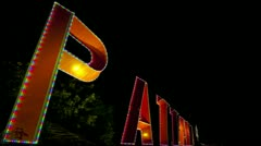 Pattaya Thailand sign time lapse Stock Footage
