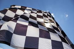 checkered flag. - stock photo
