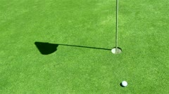 Golf - unconventional shot - billiard style Stock Footage