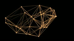 Stock Video Footage of Flight of geometric shapes