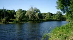 Landscape with river Stock Footage
