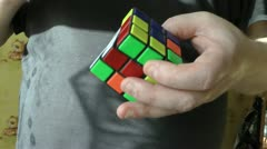 Rubik's cube old and still an actual puzzle for all age Stock Footage