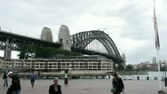 Stock Video Footage of Sydney Harbour Bridge