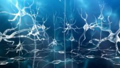 Neuronal Activity Female Blue Stock Footage
