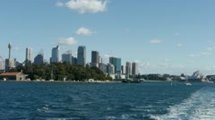 Sydney Skyline from Ferry Stock Footage