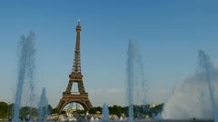 Eiffel tower, paris, france Stock Footage