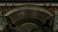 Printing on old typewriter Stock Footage