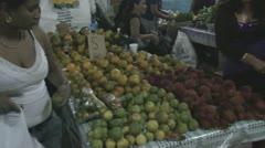 Suriname, market in Paramaribo Stock Footage