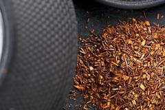 dried rooibos tea - stock photo