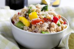 Quinoa salad in bowl Stock Photos