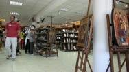 Souvenir shop in Kalambaka _2 Stock Footage