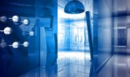 Indoor building. office space with blue light effects Stock Illustration