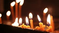 Stock Video Footage of Candles in orthodox church (St. Petka)
