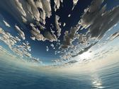 Stock Illustration of spherical sky and ocean