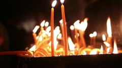 Candles in orthodox church (St. Petka) _1 Stock Footage