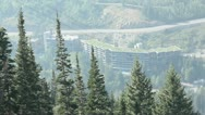 Chair Lift Ski Tram Aerial Mountains 15 Stock Footage