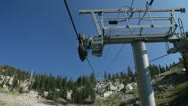Chair Lift Ski Tram Ride Aerial Mountains 18 Stock Footage