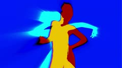 Sexy dancer shadow silhouette Stock Footage