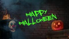 Happy Halloween! | Animated Title Stock Footage