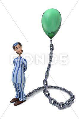 Stock Illustration of prisoner