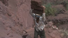 African workers - stock footage