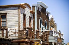 far west several buildings view - stock photo