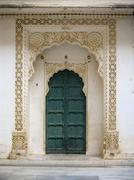 indian doorway - stock photo