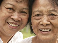 asian senior woman - stock photo