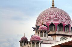 Grand putrajaya mosque Stock Photos