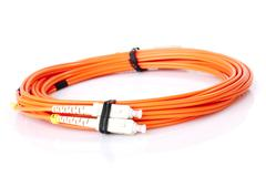 fibre optic network cables - stock photo