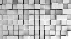 Abstract image of white cubes with different heights Stock Illustration