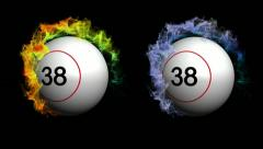 Two bing ball number only OK Stock Footage