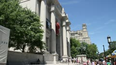 American Museum of Natural History in New York Stock Footage