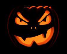 Halloween jack o lantern smiling/grinning Stock Illustration