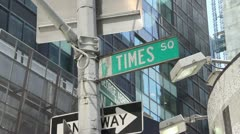 Time Square street sign Stock Footage