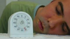 Sleeping timer sleep Stock Footage