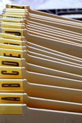 alphabetical organizer - stock photo