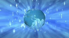 Animated globe Stock Footage