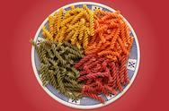 Colorful pasta dish Stock Photos