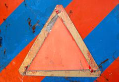 empty warning sign - stock photo