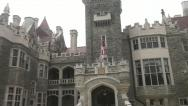 Stock Video Footage of Toronto Casa Loma exterior