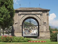 Stock Photo of arch of august aosta