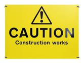 Stock Photo of caution construction works