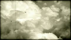 Old film 8mm clouds Stock Footage