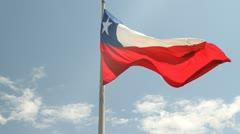 Bandera Chilena Stock Footage