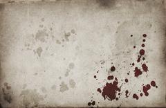 blood spots on grunge background - stock illustration