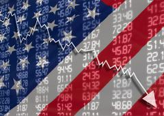 crisis in usa - stock photo